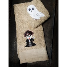 Owl wash cloth set