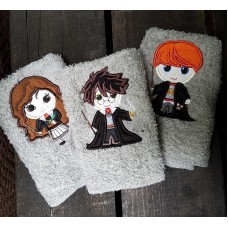 Wizard Friends wash cloth set